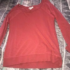Orange/red long sleeve shirt
